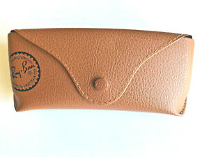 Ray-Ban-Brown-Leather-Case-for-Sunglasses-Glasses-With-Cleaning-Cloth