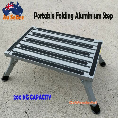 Folding Aluminium Step Portable Ladder Caravan Accessories Stool Camper Trailer