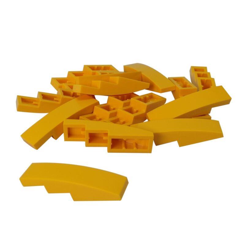 LEGO x 4 Curved 2x1 No Studs 11477 NEUF Bright Light Orange Slope