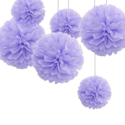 10x Wedding Party Home Hanging Tissue Paper Pom Pom Lantern Flower Balls Xmas SL