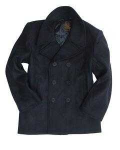 Mil-Tec US Navy Pea Coat Jacke Marinejacke Mantel Dunkelblau XS-3XL