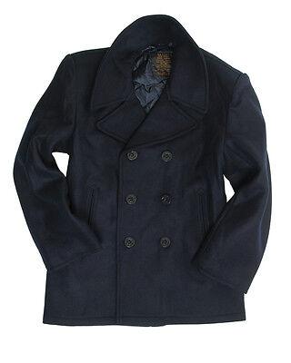 Streng Mil-tec Us Navy Pea Coat Jacke Marinejacke Mantel Dunkelblau Xs-3xl