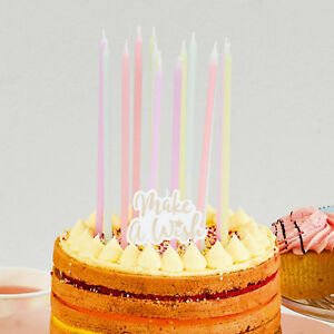 Image Is Loading MAKE A WISH PASTEL BIRTHDAY CAKE CANDLE PACK