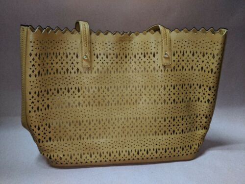 Madison Scallop West Tan Perforated Tote vWfSAZq