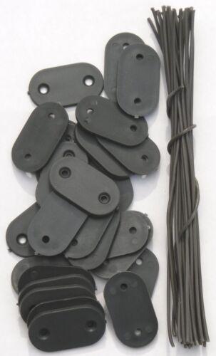 Befestigung Montage-Plättchen Draht Kabelbinder für PVC Sichtschutz Blickschutz