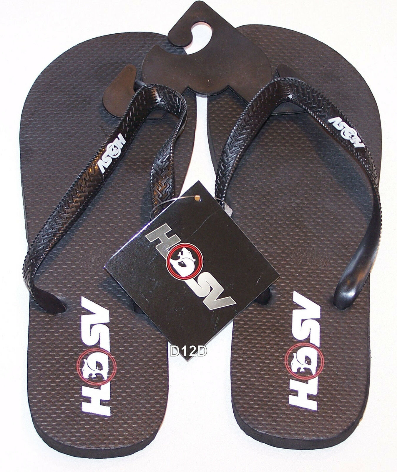 Holden Special Vehicles HSV Logo Size Mens Black Printed Thongs Size Logo 6 New /40 bf783b