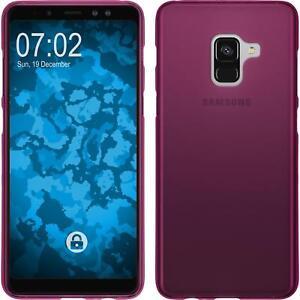 Funda-de-silicona-Samsung-Galaxy-A8-2018-Plus-estera-rosa-caldo-Case