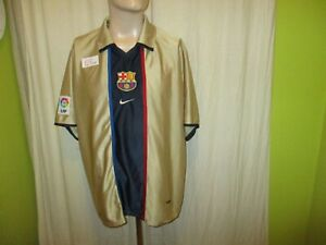 FC-Barcelone-Original-Nike-dehors-maillot-2001-2003-034-sans-principal-Sponsor-034-Taille-XL