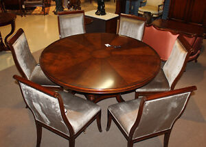 Gorgeous Flame Mahogany Conference Breakfast Dining Table 72 Inches Round Ebay