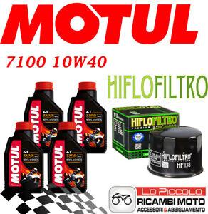 SUZUKI GSR 600 2006 2007 2008 KIT TAGLIANDO 4 LT MOTUL 7100 10W40 + FILTRO OLIO
