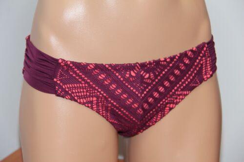 NWT Becca Swimsuit Bikini Bottom Size S American Tab side Crochet  MRS
