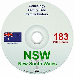Family History Tree Genealogy New South Wales books DVD