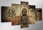 Tableau bouddha moderne contemporain 5 partie Image sur toile 160 x 80 cm