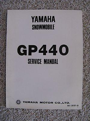 RARE YAMAHA SNOWMOBILE EW433B SERVICE MANUAL USED
