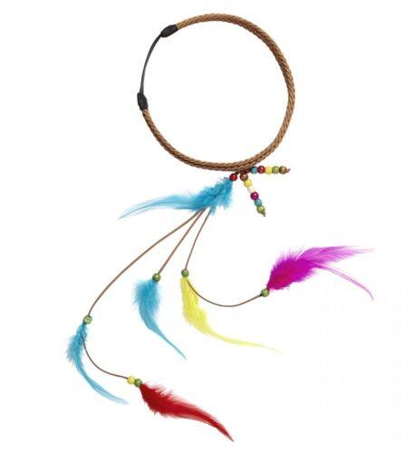 Hippie cinta del pelo plumas y perlas india-disfraz pelo joyas pelo banda acci