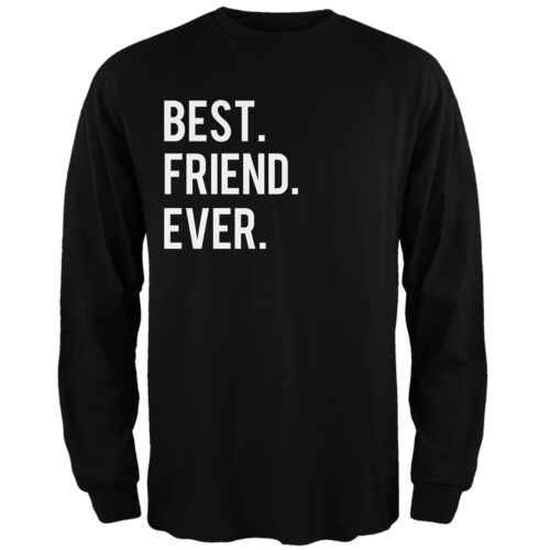 Valentine/'s Day Best Friend Ever Black Adult Mens Long Sleeve T-Shirt