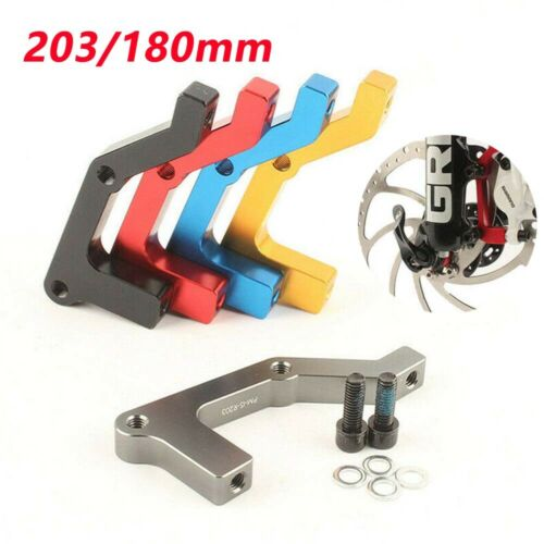 IS Front Rear 180//203mm Caliper Disc Brake MTB Bike Brake Adapter Rotors .