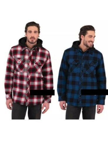 Boston Traders Hooded Plaid /& Checks Flannel Shirt Jacket
