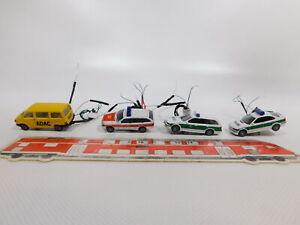 Cg605-0-5-4x-Herpa-1-87-turismos-VW-ADAC-MB-bmw-policia-iluminado-parcialmente-defectuoso
