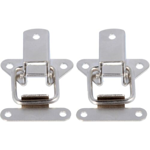 TOGGLE CATCH CASE CLIP PAIR Toolbox Box Chest Latch Fastener 45mm Nickle Plated
