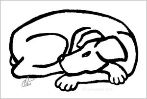 JACQUELINE-DITT-Dog-Black-Original-Grafik-handsigniert-Bilder-Hund-Tier-Kunst
