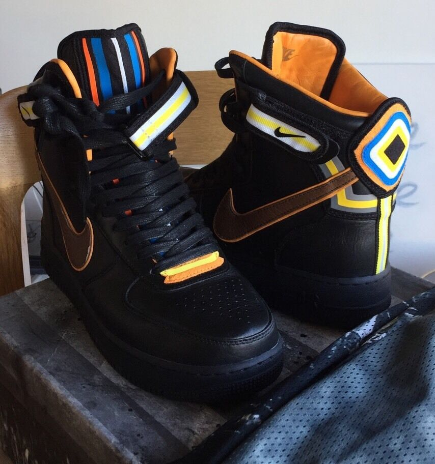 Rare Nike Air force 1 Riccardo Tisci RT High QS Black orange White 9.5 Lab Dunk