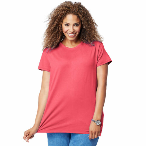 Just My Size Just My Size Jersey di Cotone a Maniche Corte Scoop-neck women/'s Tee 1X