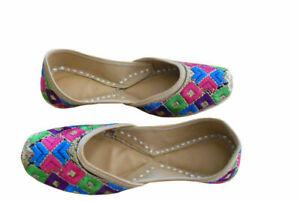 Women-Shoes-Indian-Handmade-Leather-Jutties-Flip-Flops-Loafers-Flat-UK-3-EU-35-5