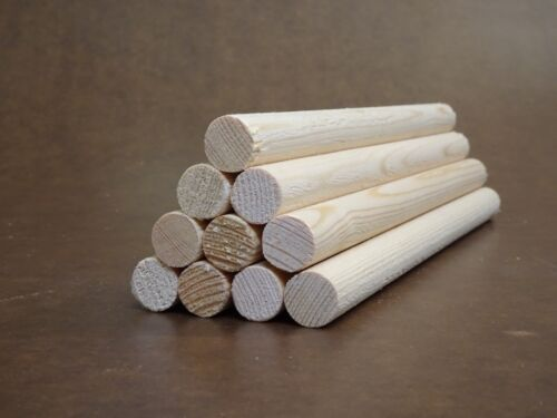 REDWOOD PINE DOWELS 19mm x 300mm Length EXCELLENT VALUE 10 Pack FREE P/&P
