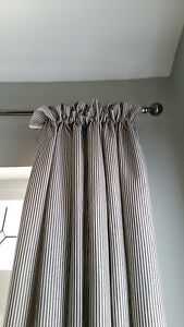 Black-Natural-Stripe-100-Linen-Proffesionally-Made-to-Measure-Curtains