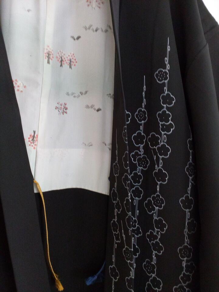 Kimono, Vintage silke haori, Håndlavet