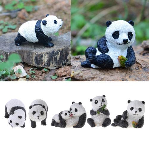 Cute Panda Ornament Resin Animal Miniature Figurine Craft Dollhouse Decor