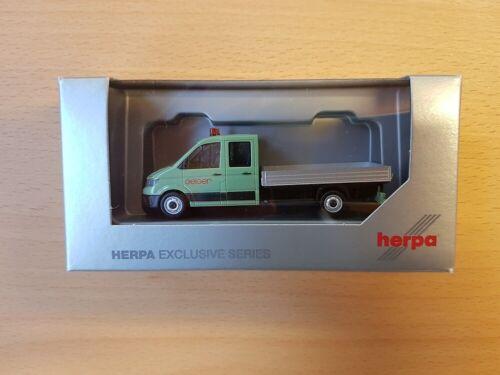 """Neu Herpa 938600-1//87 VW Crafter Doppelkabine mit Pritsche """"Geiger"""""""