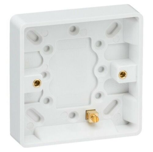 Courbe Bord Socket Boîtes Simple Double Pattress Box 16 mm 25 mm 35 mm 47 mm