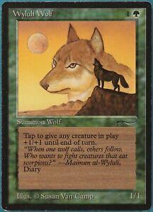 Wyluli Wolf (a Dark) Arabian Nights HEAVILY PLD Common CARD (211703) ABUGames
