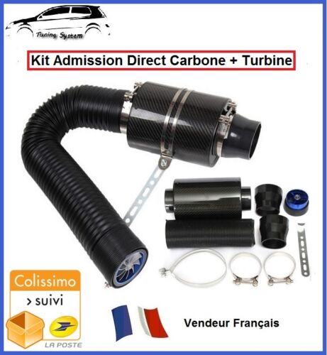 KIT ADMISSION DIRECT DYNAMIQUE CARBONE UNIVERSEL FILTRE AIR VOLKSWAGEN SCIROCCO