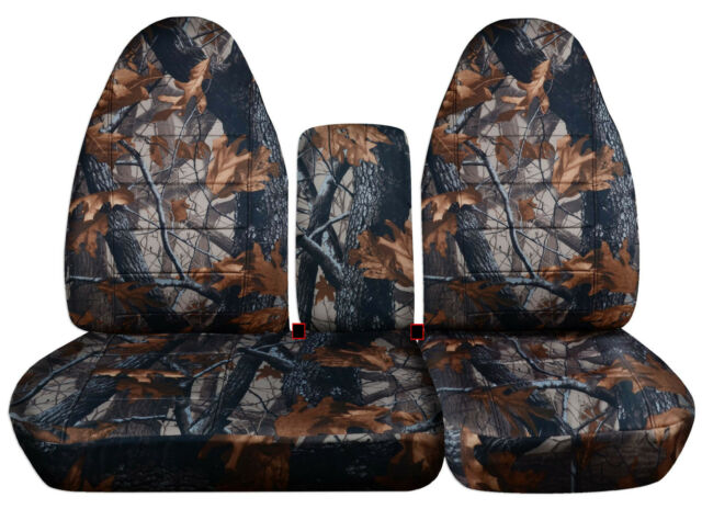CC Ford f150 40-60 seat highback camo tree car seat covers+console cover,COOL!!