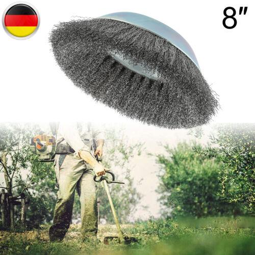 Unkrautbürste Wildkrautbürste 200 X 25.4mm Drahtbürste Freischneider Motorsense