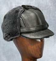 Elmer Fudd Hat (black) - 100% Sheepskin By Northern Hats (sku: 18k-blk)