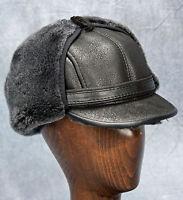 Elmer Fudd Hat (black) - 100% Sheepskin By Northern Hats (sku: 18k-blk)