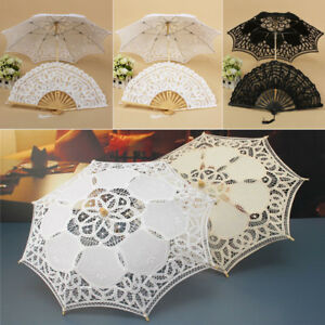 Image Is Loading Vintage Princess Craft Fancy Lace Parasol Umbrellas Hand