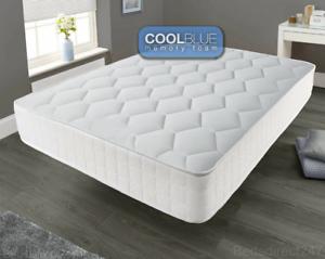 Memory-Foam-Luxury-Matress-Sprung-Mattress-3ft-Single-4ft6-Double-5ft-King-bed