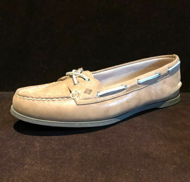 Sperry Women's Authentic Starlight Shimmer Boat Shoe, Taupe, Size 10 M US - NWOB