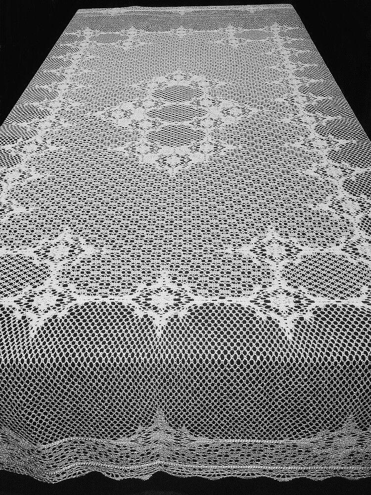 Dentelle Nappe Blanc Carmen Crochet Style 70  X 90  salle à manger Mariage Cuisine