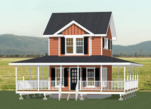 Details about 16x20 Tiny House -- 1 Bedroom 1 5 Bath -- PDF Floor Plan --  579 sqft -- Model 11