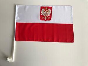 Polen Autofahne Autoflagge Fahnen Auto Flaggen 30x40cm