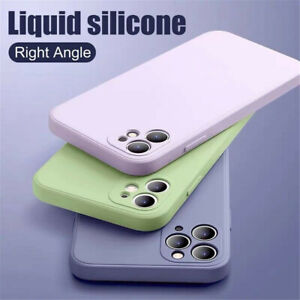 Liquid Silicone Case For iPhone 13 11 12 Pro Max XS XR mini 87 plus Square Cover