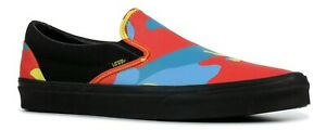 cbd6ad7d1fe2a Image is loading VANS-NEON-CAMO-SLIP-ON-TRAINERS-authentic-old-