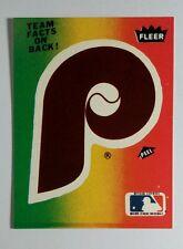 PHILADELPHIA PHILLIES 1983 SEASON TOTALS P LOGO BASEBALL TRADING CARD STICKER