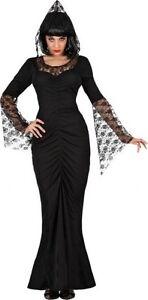 Deguisement-Femme-Sorciere-M-L-40-42-Costume-Adulte-Dame-des-Enfers-halloween